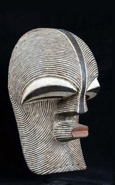 """Africa """"Kifwébé"""" mask from the Songye people of DR Congo Wood and pigments Afrique Art, Art Premier, Masks Art, Arte Popular, African Masks, African Culture, Totems, Tribal Art, Ancient Art"""