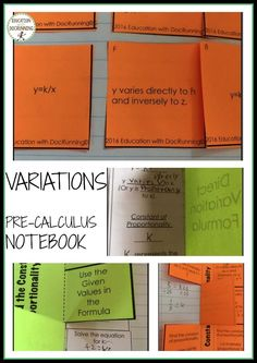 Multiple interactive notebook pages in direct, joint and inverse variations. Includes 2 different practice sets. Secondary Resources, Secondary Math, Math Resources, 6th Grade Activities, Math Enrichment, We Are Teachers, Precalculus, Study History, Cooperative Learning