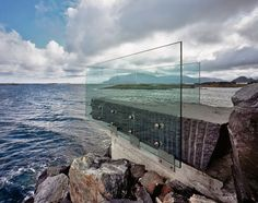 Askevågen is a minimalist viewing platform at the end of a breakwater on the side of Norway's famed Atlantic Road.