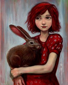 @Tessa McDaniel Perry, i like this girl with red hair holding a bunny :)
