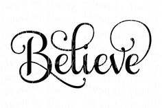 Believe SVG Christmas Cutting File By Designs by Danielle