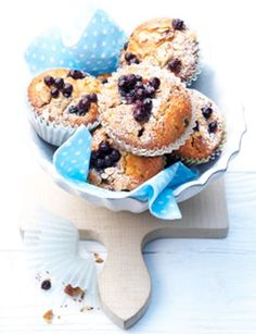 If you love blueberry muffins, you'll love this healthier version with oats and whole wheat.