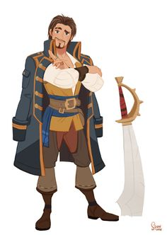 "ArtStation - Personal project - The sea king contest. Bobby Skunk team ""Captain Bobby"", Hong SoonSang"
