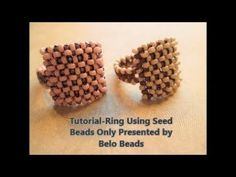 Tutorial-Ring using only Seed Beads-Easy Step by Step Instructions. Tutorial-Ring using only Seed Beads-Easy Step by Step Instructions Watch this video and make your own very cute seed bead ring. You only need two colors of 110 seed beads. Seed Bead Bracelets, Seed Bead Jewelry, Seed Beads, Craft Jewelry, Wrap Bracelet Tutorial, Ring Tutorial, Diy Beaded Rings, Seed Bead Projects, Molde