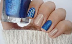 Nail art with Blu Imperiale