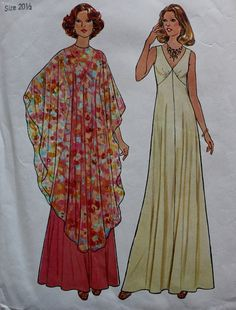 Vintage Sewing Pattern 1970s Poncho and by BluetreeSewingStudio, $9.00