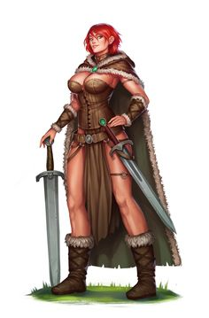 Commission: Tyra Ulfensdottir by Amanda-Kihlstrom on DeviantArt Fantasy Female Warrior, Fantasy Women, Fantasy Rpg, Medieval Fantasy, Fantasy Girl, Fantasy Artwork, Woman Warrior, Fantasy Character Design, Character Concept