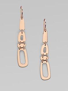 Ippolita 18K Gold & Sterling SIlver Linear Link Earrings