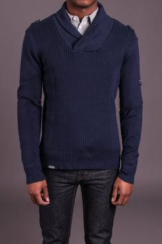 D-Struct Shawl Collar Sweater