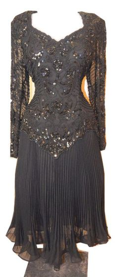 #HOLIDAY #DRESS beaded sequined #vintage