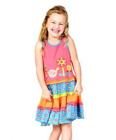 Look at this #zulilyfind! Sweety Tweety Appliqué Dress - Infant, Toddler & Girls #zulilyfinds Jelly the Pug