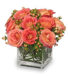 Send Mom Peaches For Mother's Day! No not THOSE kinds of peaches, the color peach! Peach is a great color for mom. It's just a little lighter and a bit more girly than the color of the year, tangerine tango. Red roses are too romantic for mom, and pink is used too often – surprise mom with a little peach!