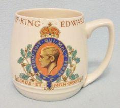 1937 Coronation mug for King Edward VIII. Made by J Meakin.