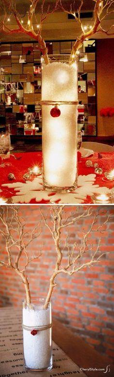 Dollar Tree DIY Christmas Reindeer Centerpiece.