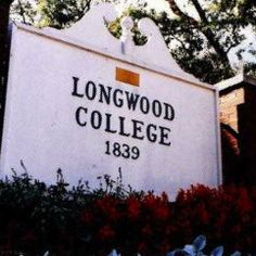 """Longwood College sign 1990. Longwood University is the  home of the """"Farmville Four,"""" Kappa Delta, Alpha Sigma Alpha, Zeta Tau Alpha, and Sigma Sigma Sigma. #sororityhistory"""