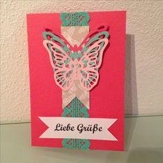 Schmetterlingskarte Liebe Grüße