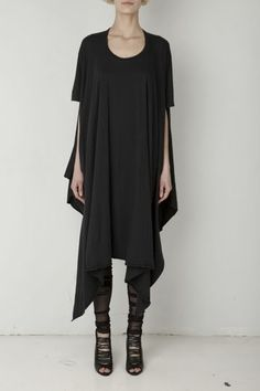 Visions of the Future: Draped Jersey Looks Style, Style Me, Dark Fashion, Fashion Beauty, Casual Outfits, Fashion Outfits, Womens Fashion, Wearing All Black, Style Inspiration