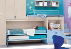 Great solution for multiple beds...might use this in basement for those full weekends!