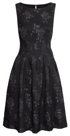 H&M black brocade dress, Fall 2014
