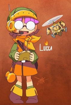 Cute li'l Lucca n' Mini-Robo