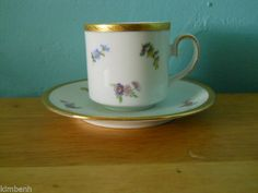 ANTIQUE TIRSCHENREUTH BAVARIA MADE IN GERMANY TEA CUP & SAUCER #TirschenreuthBavaria