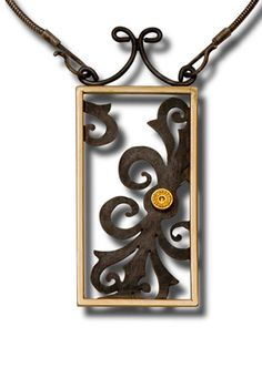 dot scroll pendant by Patricia Tschetter; photo: Marilyn O'Hara.