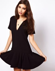 ASOS Drop Waist Dress