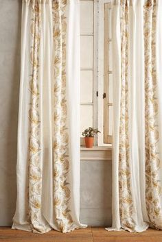 Anthropologie Scrolled Quills Curtain #anthrofave
