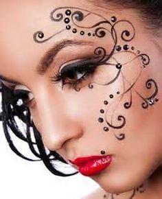 dark fairy face painting designs - Google zoeken