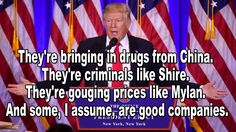 Trump's Comments Are Big Pharma's Nightmare Trump Comments, Republican Party, Good Company, Drugs, Insight, It Hurts, Shit Happens, Marketing, News