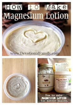How to make Magnesium Lotion that will benefit your health in amazing ways! I like to add Cypress & Marjoram for keeping your your Circulatory System working to full potential ! Herbal Remedies, Health Remedies, Natural Remedies, Young Living Oils, Young Living Essential Oils, Homemade Beauty Products, Natural Products, Beauty Recipe, How To Make Homemade
