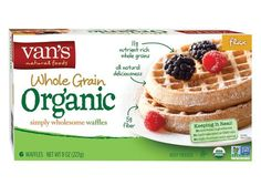 100 Cleanest Packaged Food Awards 2014: Vegetarian: Van's Organic Flax Frozen Waffles http://www.prevention.com/food/healthy-eating-tips/?s=11