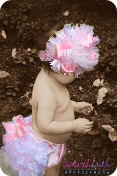 bow and bottoms would make a good photo prop set esp. 1st birthday if the baby can stand  or walk