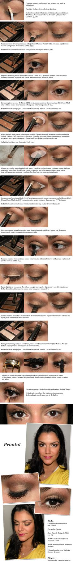 Great tutorial on how using your Urban Decay Naked Palette