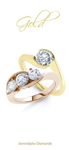 Beautifully crafted in a choice of 18ct Rose Gold or 18ct Yellow Gold, a delightful collection of diamond engagement rings in Autumn shades of precious metal. #gold #engagementring