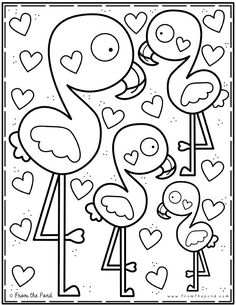 Coloring Club — From the Pond - Coloring Club — From the Pond Doodles Coloring Club — From the Pond - Summer Coloring Pages, Valentine Coloring Pages, Coloring Sheets For Kids, Animal Coloring Pages, Colouring Pages, Coloring Pages For Kids, Coloring Books, Fairy Coloring, Color Club