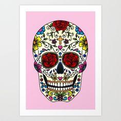 Sugar Skull Art Print by Jade Boylan - $16.00