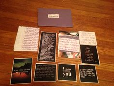 Open When You Miss Me- A letter, I miss you quotes, picture of me, and a scented card stock that's the perfume I wear often. For My Navy Boyfriend. #pre deployment #navy #military love