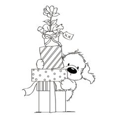 Online Shop Wild Rose Rubber Silicone Clear Stamps for Scrapbooking Tampons Seal Background Stamp Card Making Dog/Gift Cute Coloring Pages, Christmas Coloring Pages, Coloring Books, Christmas Embroidery, Hand Embroidery, Machine Embroidery, Embroidery Designs, Christmas Colors, Christmas Art