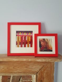 Colour bloc frames in rush of red, bright and punchy in any room.