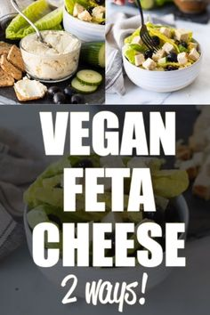 Vegan Feta Cheese that actually tastes like feta cheese and crumbles like real feta cheese and is cheap and easy to make! Vegan Feta Cheese that actually tastes like feta cheese and crumbles like real feta cheese and is cheap and easy to make! Vegan Feta Cheese, Vegan Cheese Recipes, Vegan Sauces, Vegan Foods, Vegan Dishes, Dairy Free Recipes, Raw Food Recipes, Vegetarian Recipes, Healthy Recipes