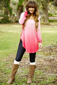 Dancing In The Dark Top: Pink Ombré #shophopes