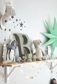 letter, star, cushion, colors..nice corner.