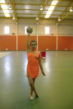 A Mariana quando praticava ginástica ritmica, Maio de 2007