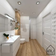 » Zakres projektu: łazienka KRU Design Small Bathroom With Shower, Narrow Bathroom, Bathroom Laundry, Bathroom Design Luxury, Modern Bathroom Design, Wc Design, House Design, Small Hall, Laundry Room Design