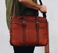 Ryan Rosenkilde and his Fossil Haskell Utility Briefcase – the perfect men's Fall bag.