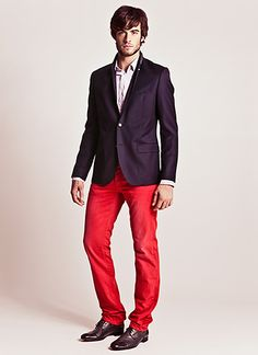 Red pants - who said they are not for men