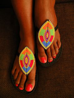 African Shield sandals