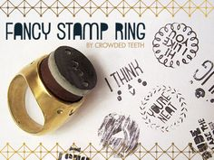 Fancy stamp ring, from crowded teeth
