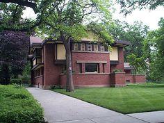 Peter A. Beachey House    238 N. Forest Avenue, Oak Park, IL 60302, built 1906, designed by Frank Lloyd Wright architect.